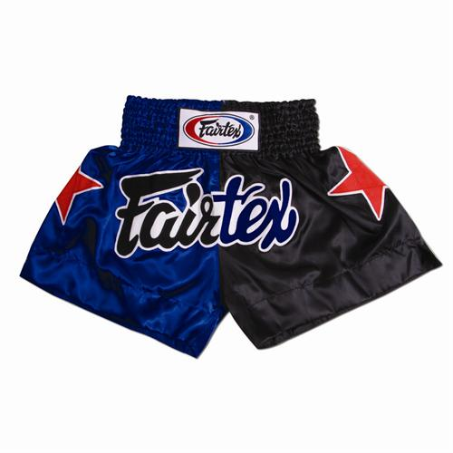 Fairtex Thai Trunks (Black/Blue Combo)